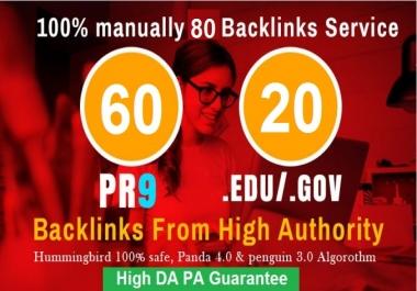 80 blog comments DA PA EDU GOV backlinks dofollow for seo