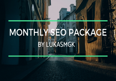 Monthly SEO Package - ORDER NOW