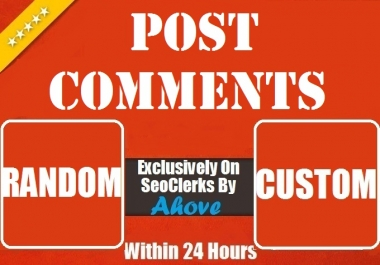Get Instant 20 Random Or Custom Comments To Your Posts