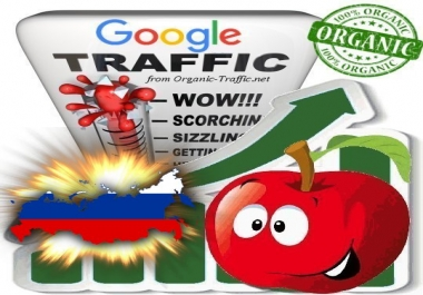 Russian Search Traffic from Google.ru with your Keywords