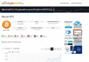 Banner space on Kryptomarkt24.org for 30 days