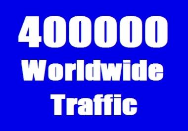 Real 400000 Website Traffic Worldwide