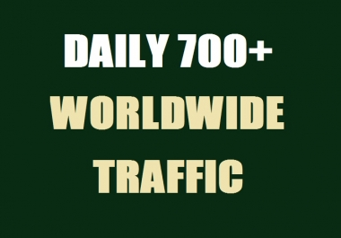 700 Daily Real Web Traffic Worldwide