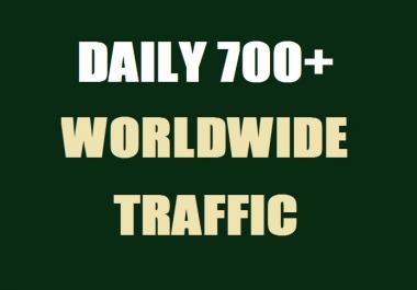700 Daily Real Web Traffic Worldwide