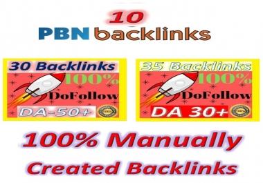 Manually Create High Authority Backlinks(PBN & Do-follow Quality) for your Websites