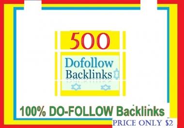 Manage & add 500++ Do-follow Backlinks mix platforms for Your Websites