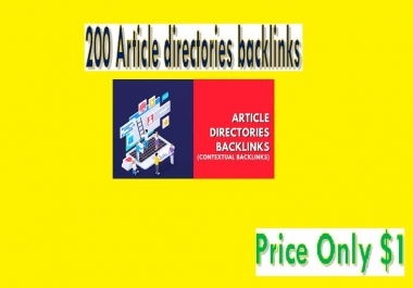 Provide 200 Article directories backlinks (contextual backlinks)