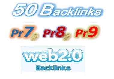 Manage 50 Pr9, Pr8, Pr7 Web2.0 Blog article Backlinks for Your Websites