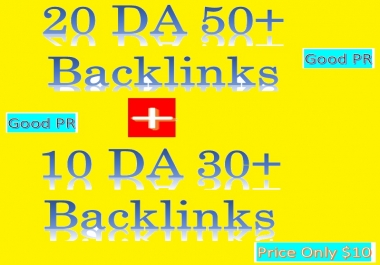 Manage 20 DA 50+ & 10 DA 30+ Do-follow Backlinks (contextual and profiles backlinks)