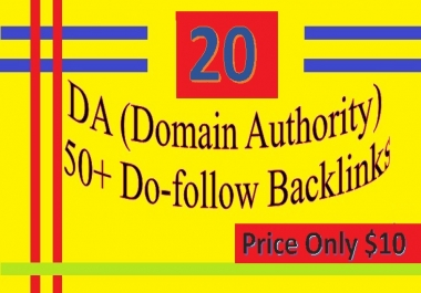 Provide 20 DA 50+ Do-follow Backlinks (contextual and profiles backlinks)