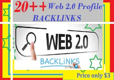 Provide 20++ Good PR Web 2.0 Profile Backlinks for your websites ranking