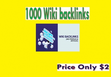 Manage 1000 Wiki backlinks (mix profiles & articles)