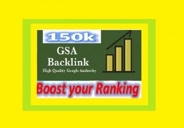 Create 150k GSA UNIQUE BACKLINKS for Your Website ranking