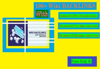 Manage 100+ Wiki BACKLINKS (mix profiles & articles) with Indexer #1, 2, 3