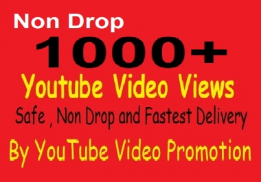 Get Non drop 1000 YOUTUBE Video REAL Promotions