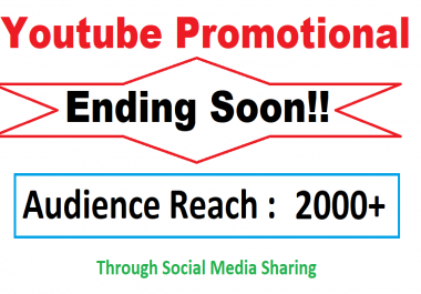 [LIMITED TIME] Youtube Video Viral Marketing Promotion 2k