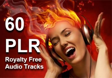 60 PLR Audio Tracks Royalty Free