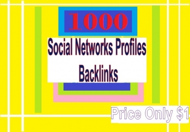Manage 1000++ Social Networks Profile Backlinks for Your Website