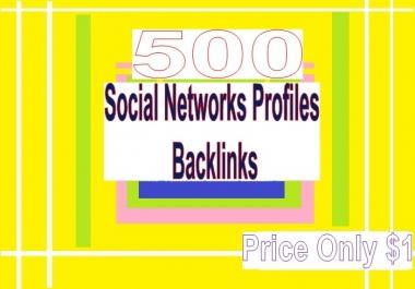 Manage 500++ Social Networks Profile Backlinks for Your Website