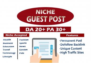 1 Guest Post on DA 25 Plus Health Niche