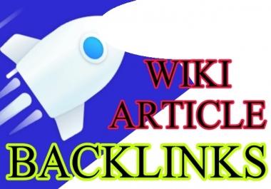 50 WIki Articles Contextual Backlinks