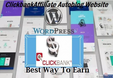I Will Create Profitable Clickbank Autoblog Affiliate Website