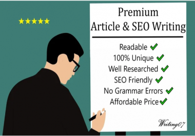Write a unique SEO blog post article