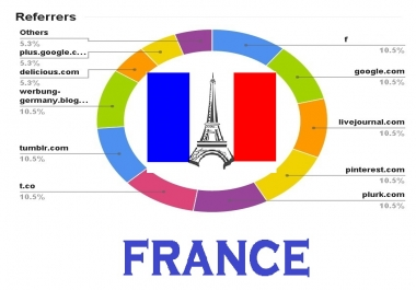 drive real organic FRANCE traffic to website store Blog SHOP with extras