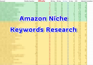 Niche keywords research in the main keyword Vegetarian