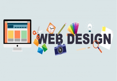 Get All type 5 pages Wordpres Website design | 1 year Free Hosting | Free email