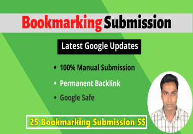 Manually 25 Seo Bookmark Site submission Backlinks