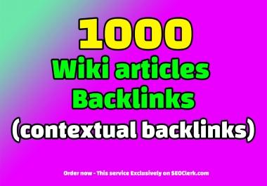 1000 WIKI articles contextual backlinks