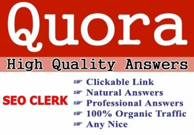 Promote Your Website Powerful 10+Quora Answer Backlinks with contextual link