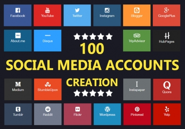 Create 25 Social Media Profile For Brand Creation