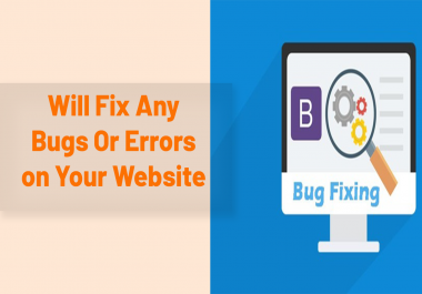 Will Fix Any Website Bugs And Errors