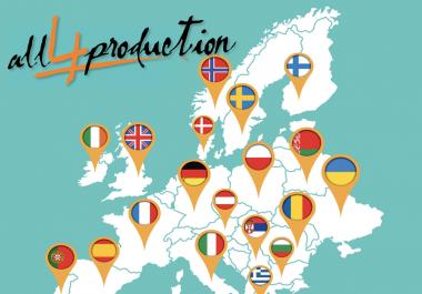 1000+ Unique EUROPE website Traffic Visitors adsense safe & alexa friendly