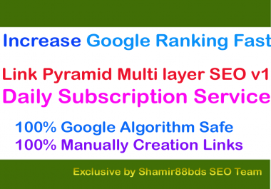Link Pyramid Multi layer SEO v1 - Daily Basis - 30 Links Daily