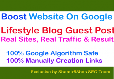 Lifestyle Blog Guest Post on TF23 to Boost Website On Google
