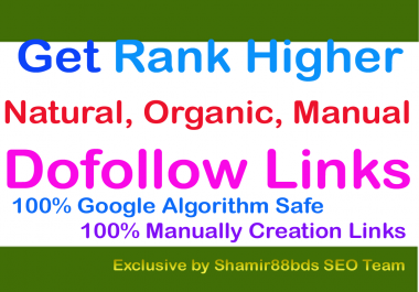 Unique 100 DA50-DA100 High DA Dofollow Backlinks by Manually
