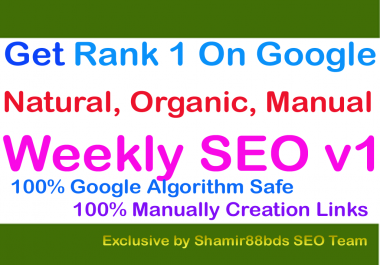 Weekly SEO v1 - Rank Your Website Higher On Google