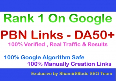 31 PBN Links - DA50+ with Login Details to Rank 1 On Google