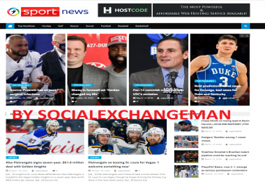 Turnkey Automated sports news Affiliate website