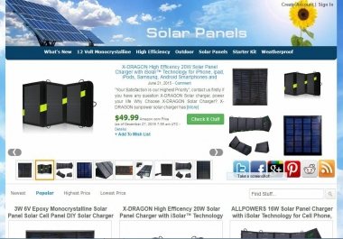Solar Panels Amazon Store Website