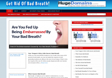 Get Rid Of Bad Breath wordpress website with tips and triks