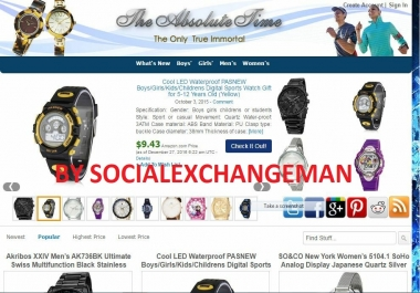 Lovely Watch Store - Fully Developed Amazon Affiliate Website