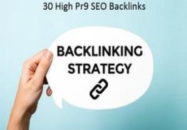 Create DA 80+ High PR9 30 Safe Backlinks