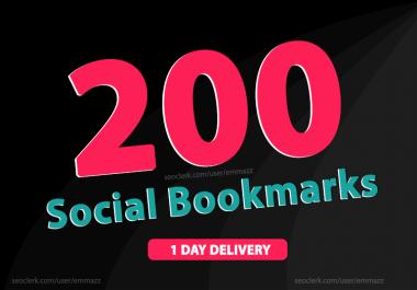 add 200 social bookmarking backlinks rank up your website
