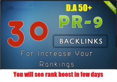 30 DA 50+ Powerful Backlinks to Boost your rank