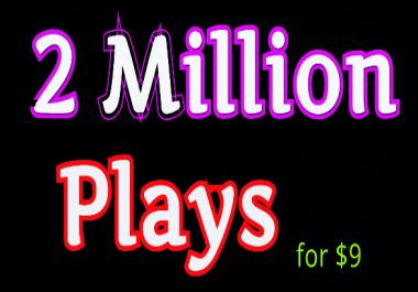 Get high retention audio music 2,000,000 Play, 155 LlKES, 55 Rep0st and 12 C0mments