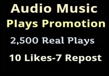 Get real Audio Music Play promotion 10 Iikes-7 Rep0st